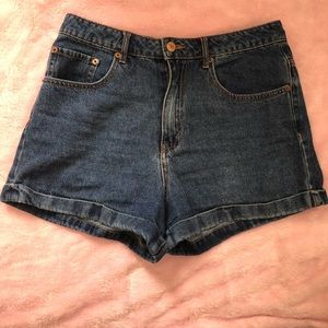 High wasted jean short